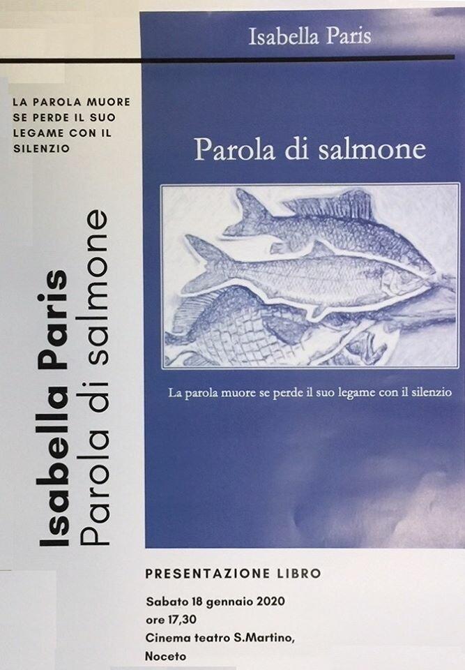 """Presentazione del libro """"Parola di salmone"""" di Isabella Paris"""