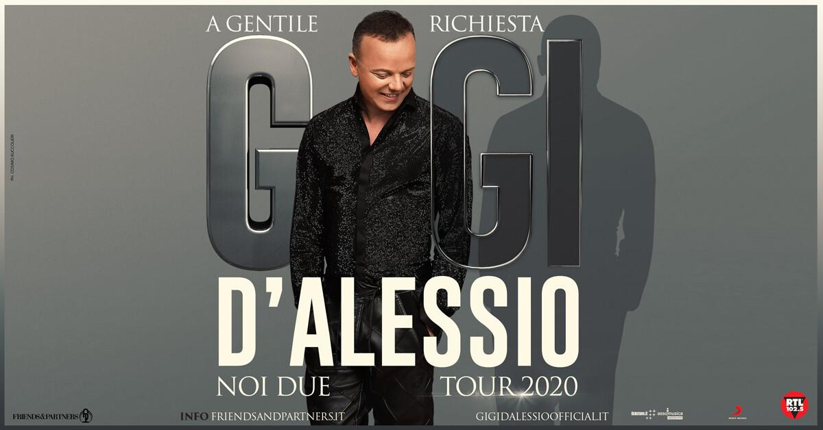 "GIGI D'ALESSIO ""NOI DUE TOUR 2020 – A gentile richiesta"" al Teatro Regio di Parma"