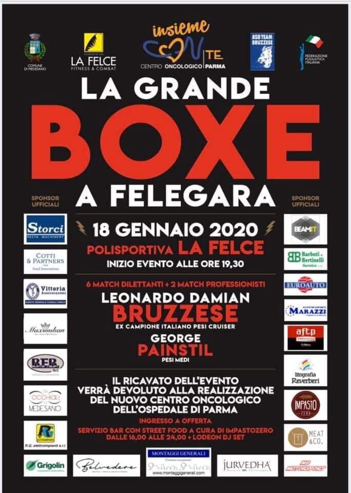 La grande boxe a Felegara