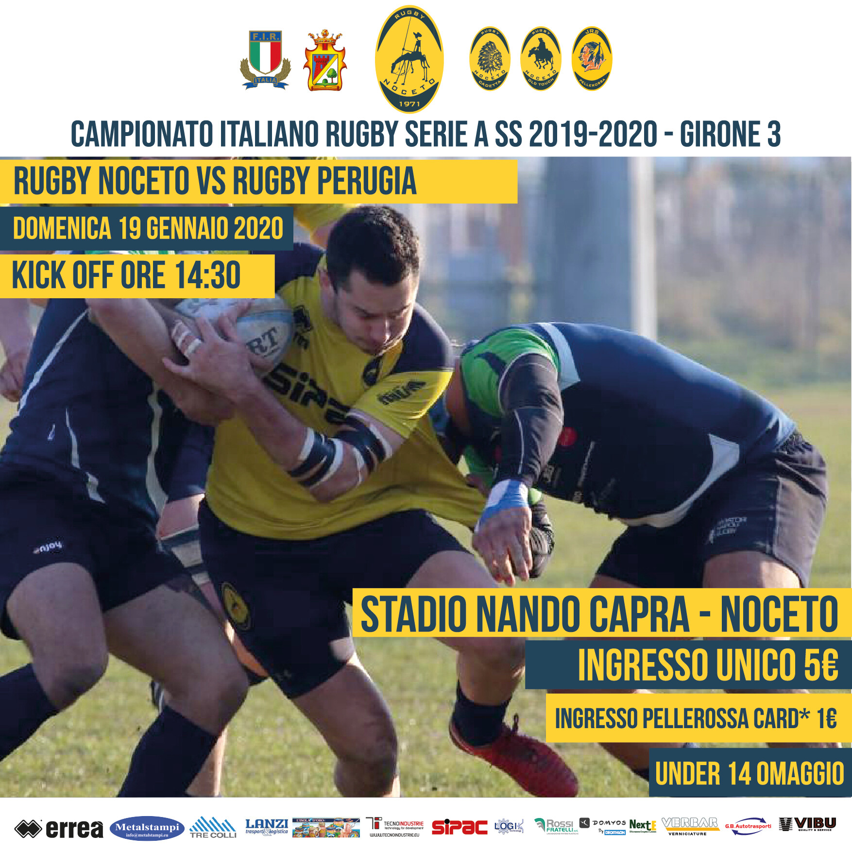 Rugby Noceto vs Rugby Perugia