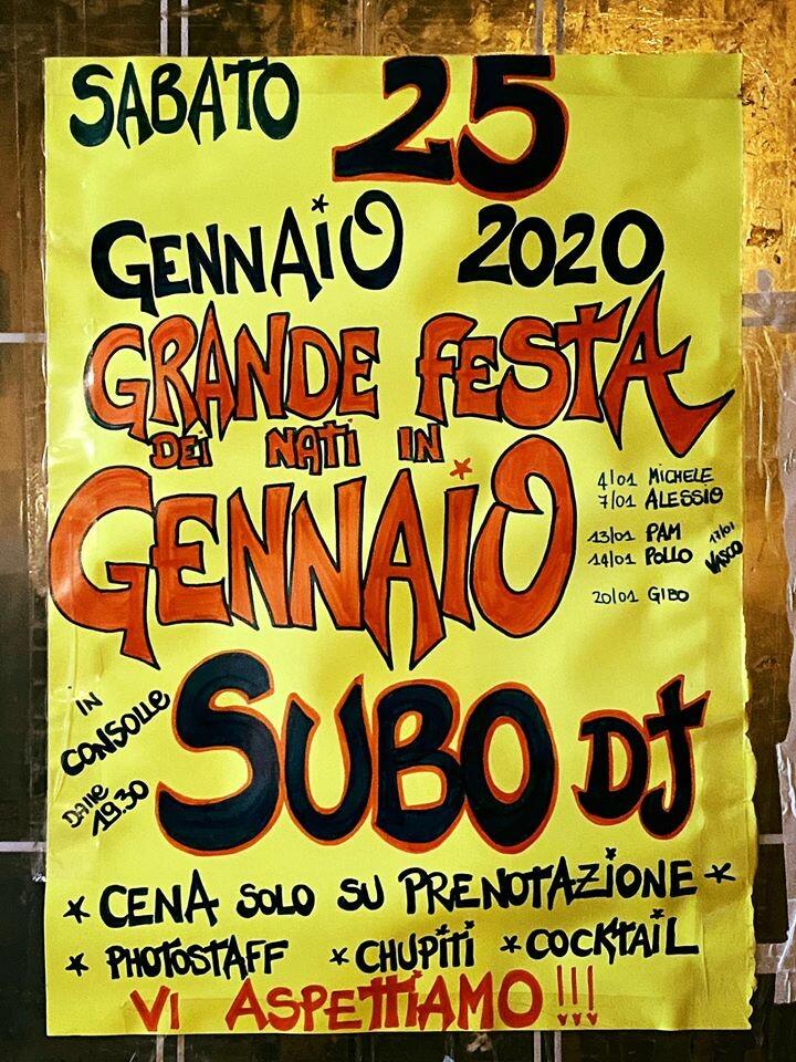 Grande Festa dei Nati in Gennaio all'Osteria della Posta a Borghetto