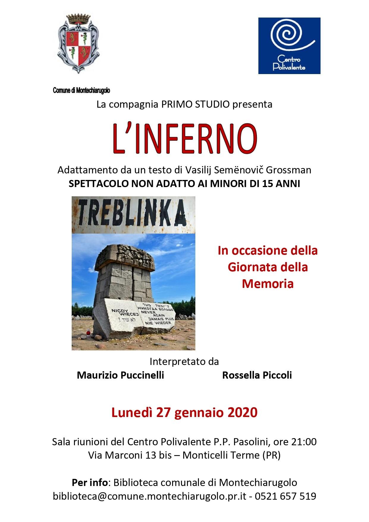 """Giorno della memoria a Monticelli: """"""""L'Inferno"""""""