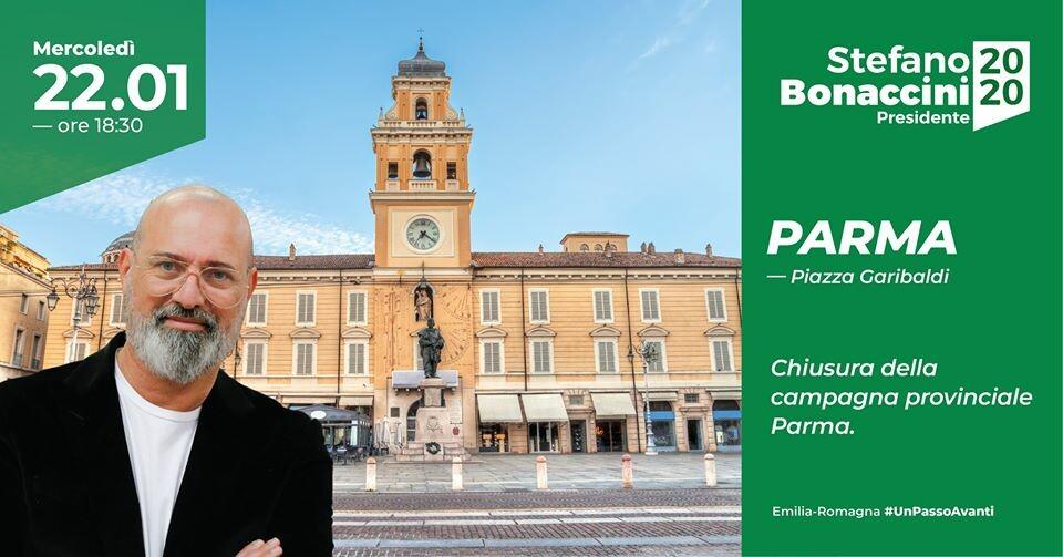 Chiusura Campagna Provinciale di  Stefano Bonaccini a Parma