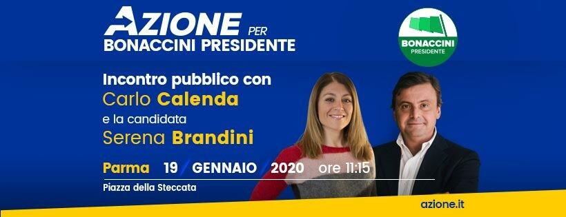 Incontro con Calenda e la candidata Brandini in piazza della Steccata