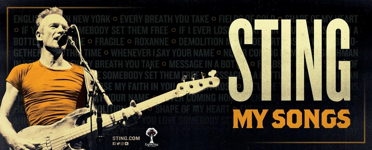 """STING: il """"My Songs"""" Tour torna in Italia a Parma il 23 luglio al Parco della Cittadella"""