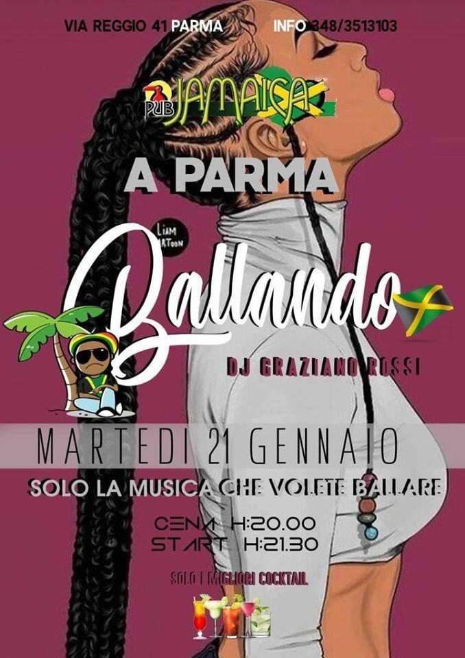 """Al JAMAICA PUB PARMA """"Ballando"""", serata del 21 gennaio"""