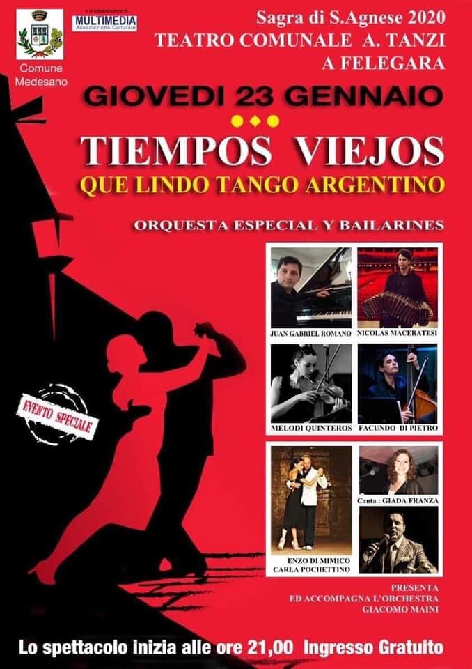 Grande serata di TANGO ARGENTINO al Teatro Tanzi a Felegara,
