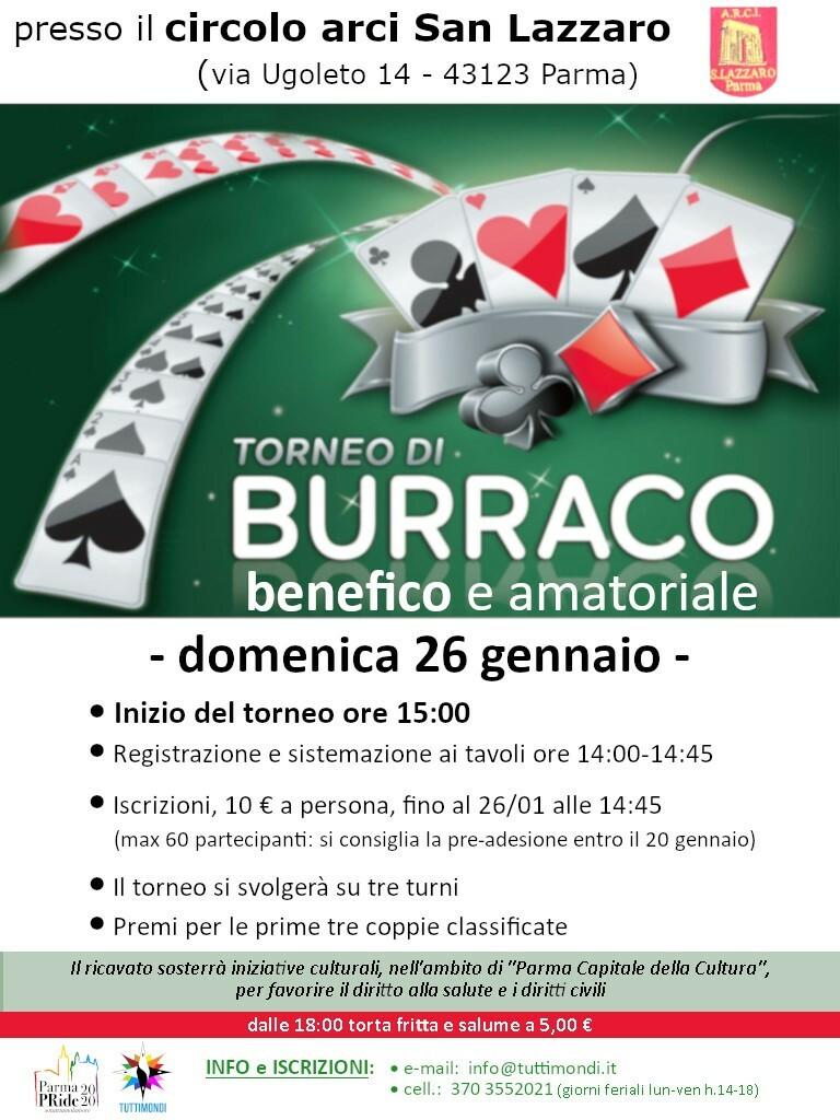 Torneo di burraco Il 26 gennaio organizzato dall'associazione Tuttimondi