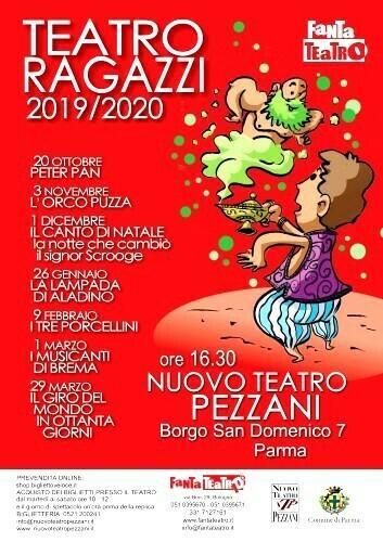 LA LAMPADA DI ALADINO della Stagione Ragazzi al Nuovo Teatro Pezzani