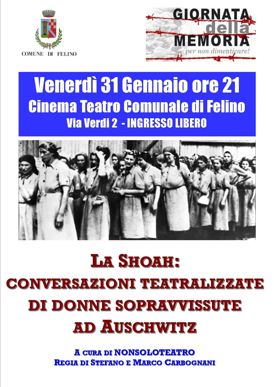 """Per non dimenticare: uno spettacolo per la """"Giornata della Memoria"""" con letture di testi di donne sopravvissute ad Auschwitz"""