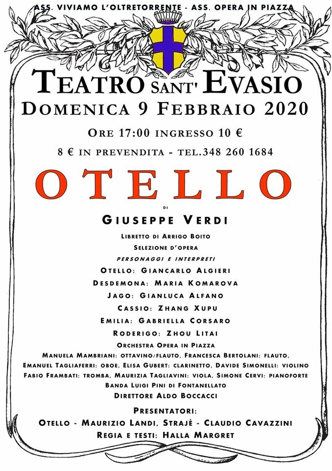 OTELLO al teatro S. Evasio