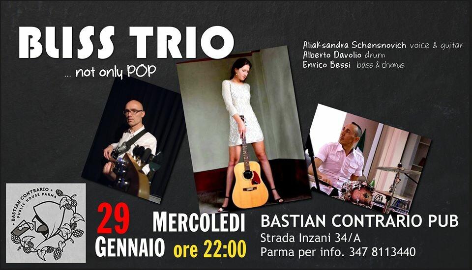 BLISS TRIO live al Bastian Contrario Parma