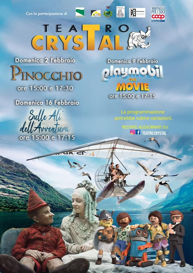Cinema per bambini al Crystal