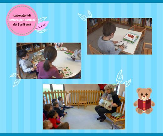 Laboratorio di lettura per bambini dai 3 ai 5 anni