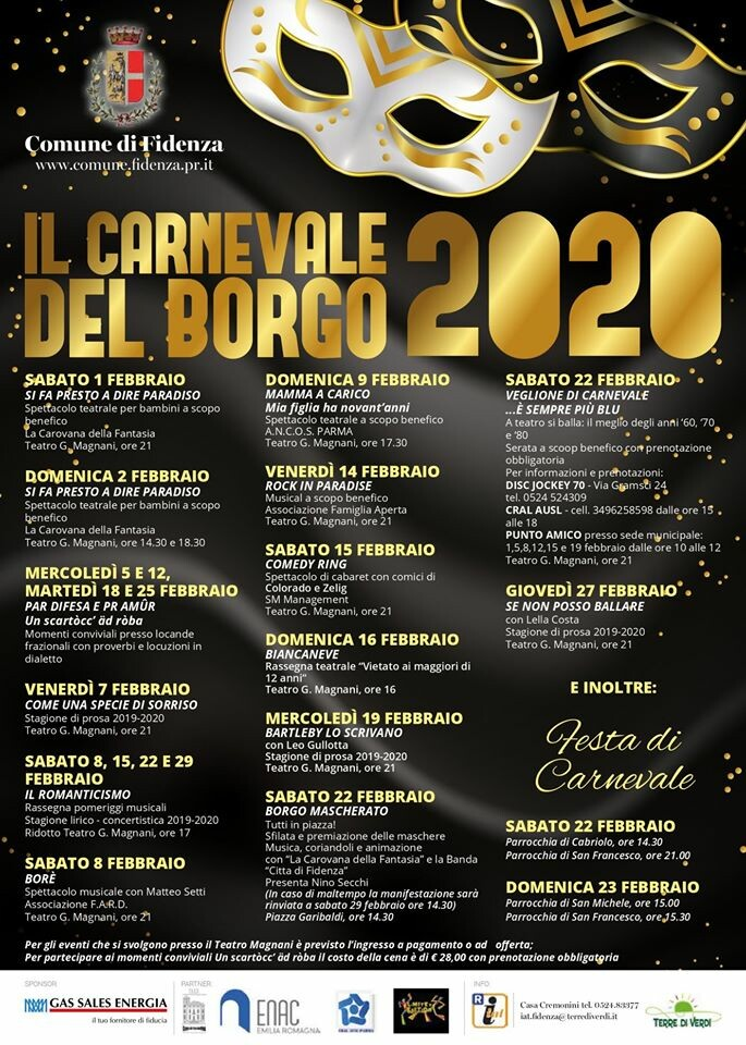 "Carnevale del Borgo"" 1 Febbraio 2020 - 27 Febbraio 2020"