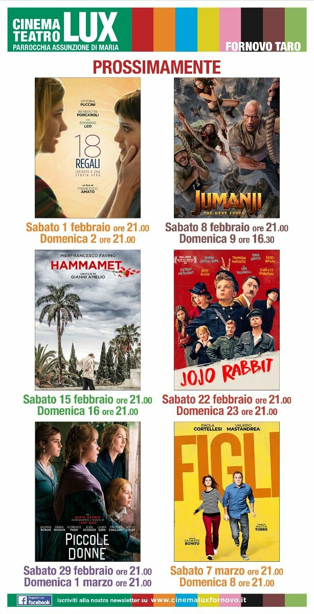 Programma cinema LUX febbraio -marzo