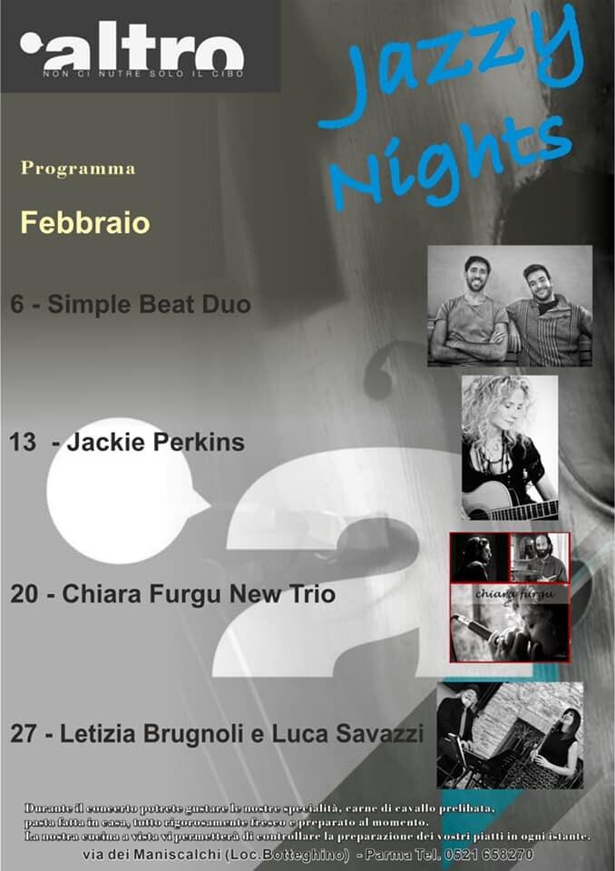 Jazzy Night all'Altro ristobar , programma di febbraio
