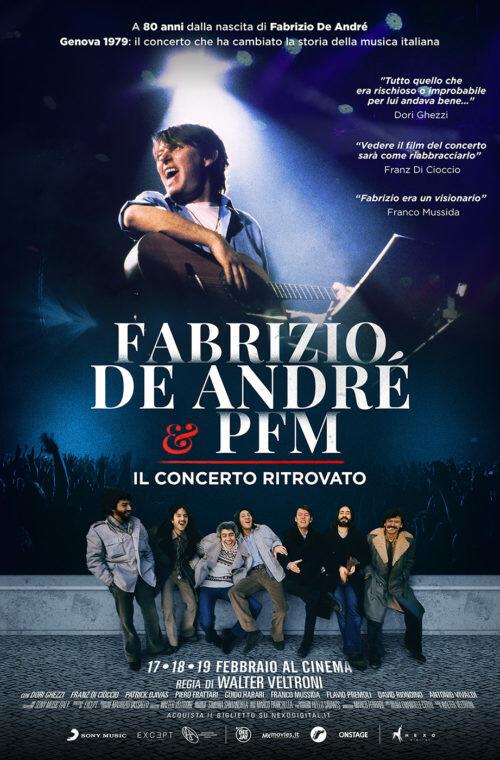 Fabrizio De André e PFM. Il Concerto Ritrovato al cinema Astra