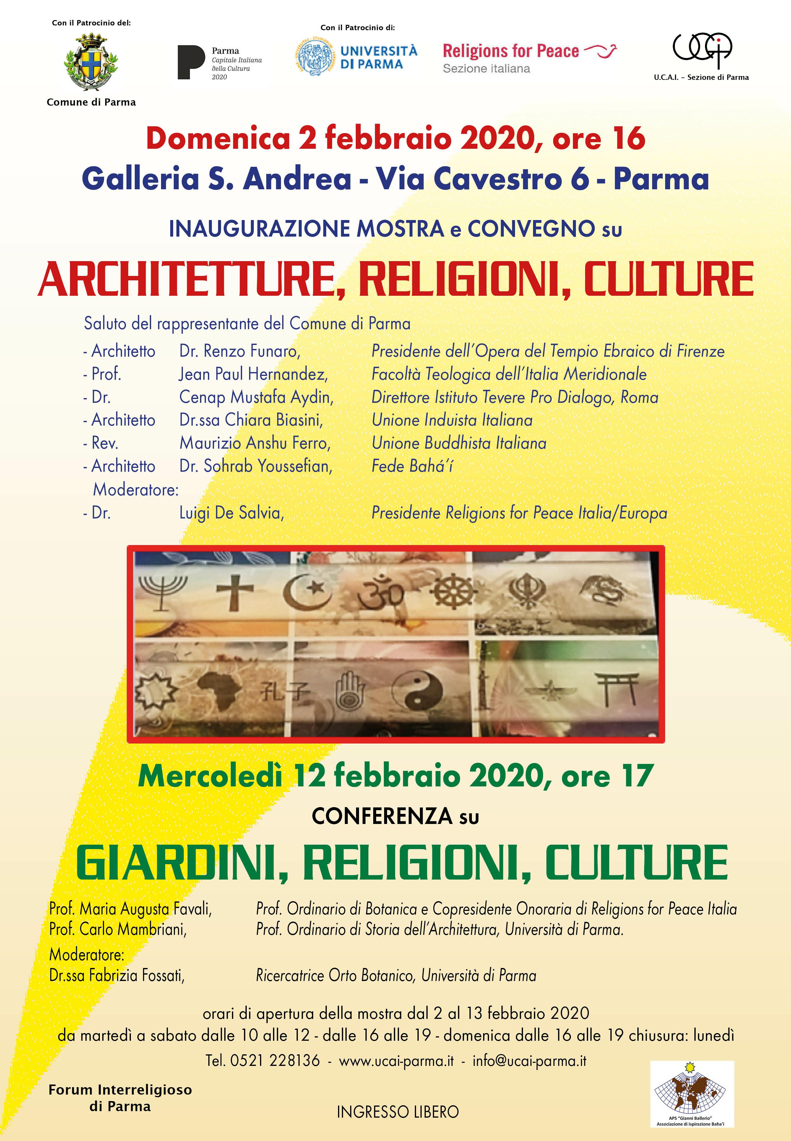 """CONFERENZA  """"GIARDINI, RELIGIONI, CULTURE"""" alla   GALLERIA S.ANDREA"""
