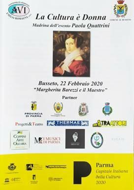 """A Busseto """"Margherita Barezzi e il Maestro"""" , evento nato per diffondere e divulgare il tema dell'incontinenza urinaria femminile"""