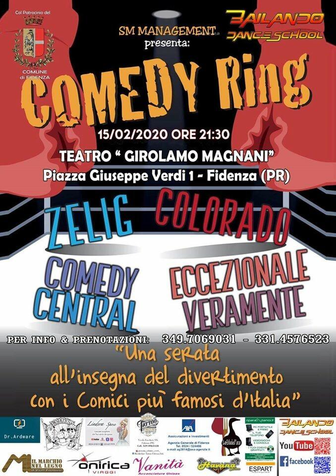 Comedy ring: una serata in compagnia dei comici più famosi d'Italia direttamente da Zelig, Colorado