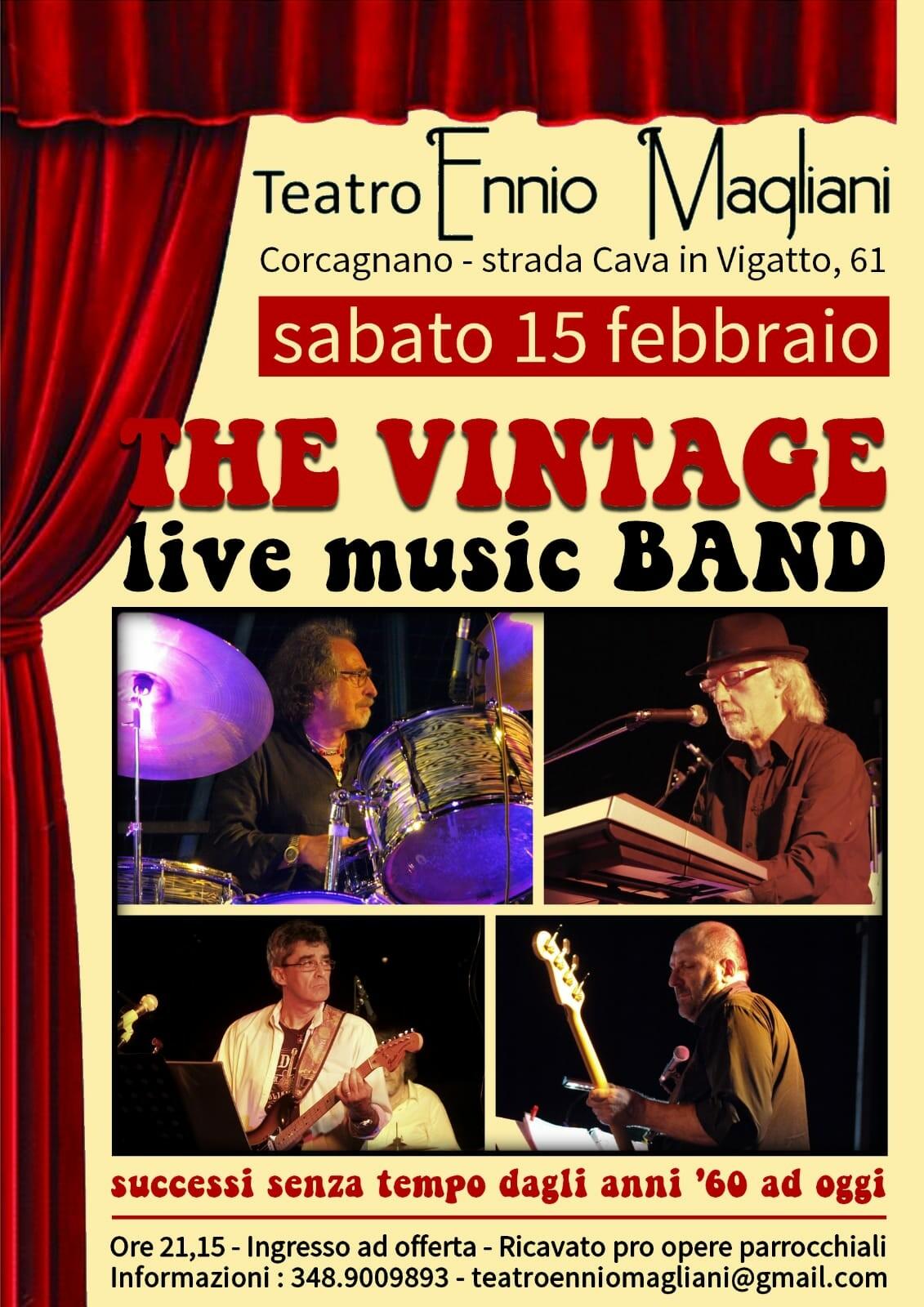 The vintage  music band al teatro Ennio Magliani