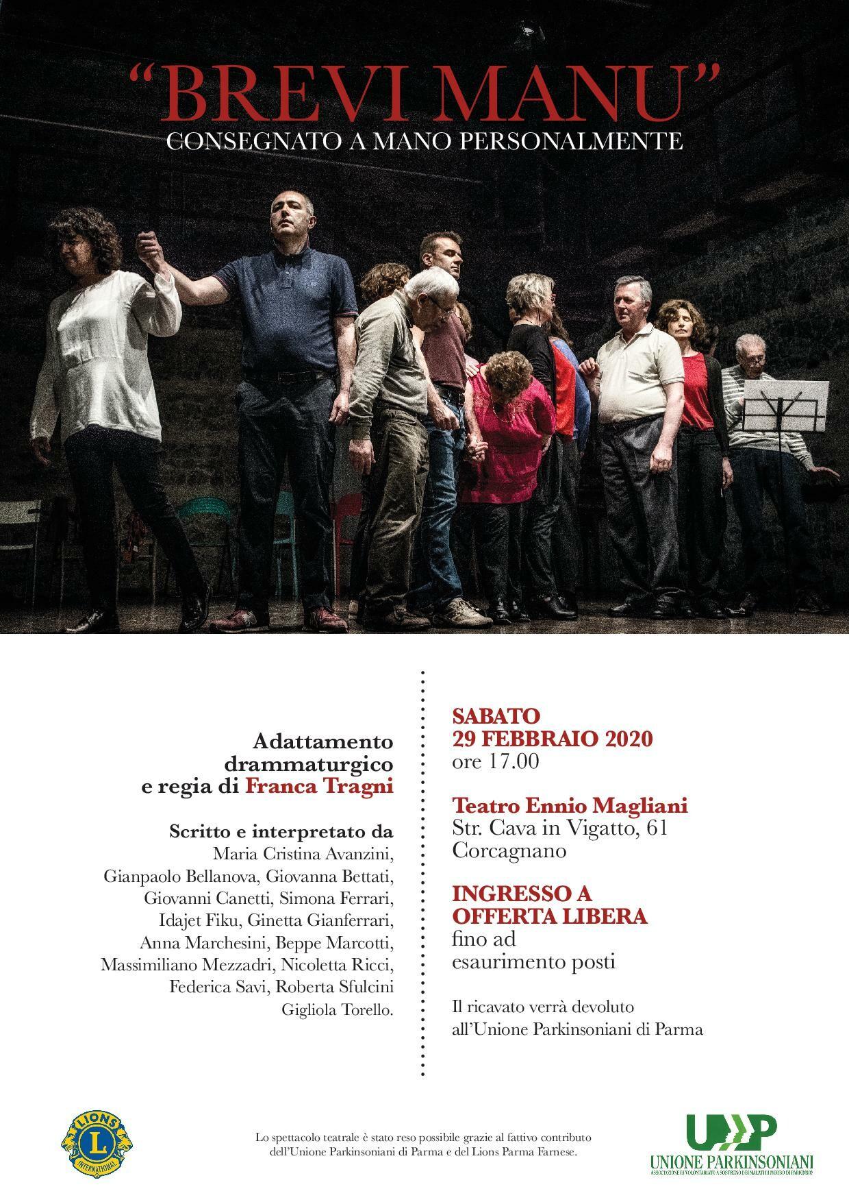 Brevi manu  al teatro Ennio Magliani
