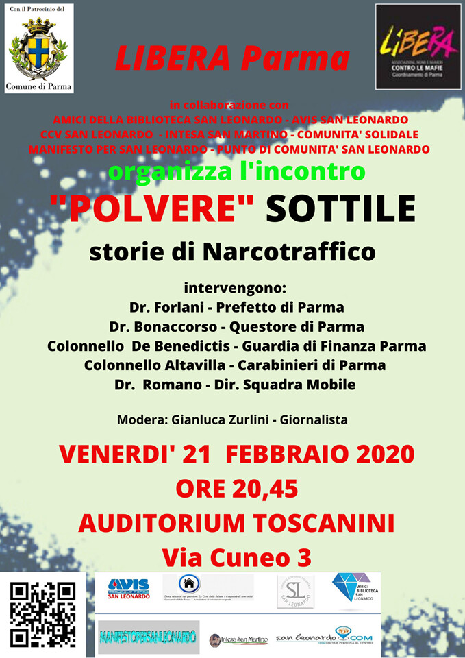 """""""POLVERE SOTTILE"""": storie di Narcotraffico incontro all'Auditorium Toscanini"""