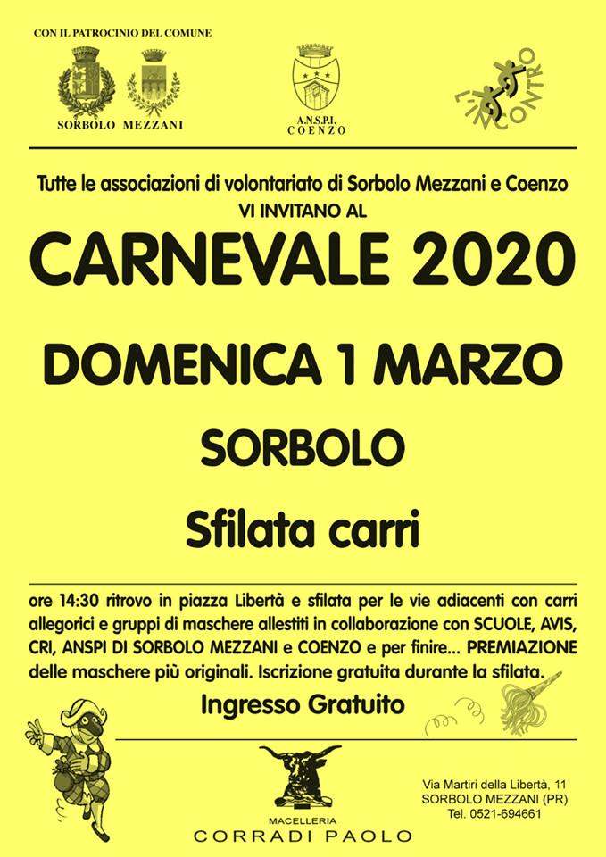 Carnevale 2020 a Sorbolo