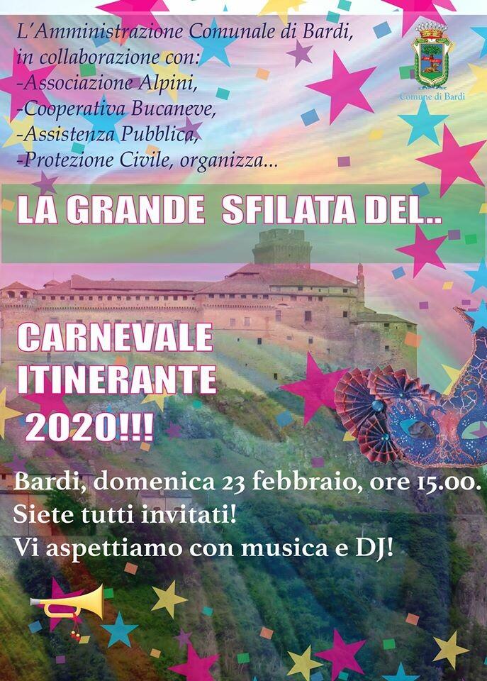 Carnevale Itinerante 2020 a Bardi