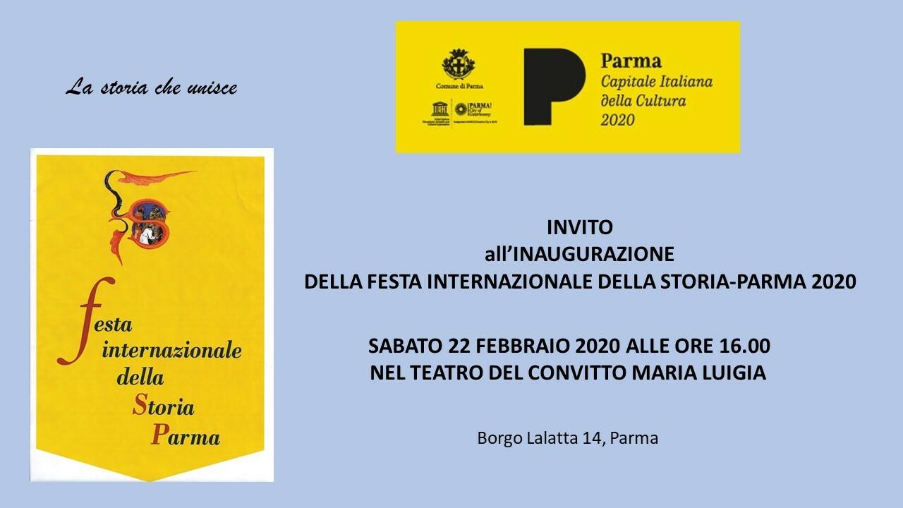 Cerimonia inaugurale della VIII edizione della Festa Internazionale della Storia-Parma