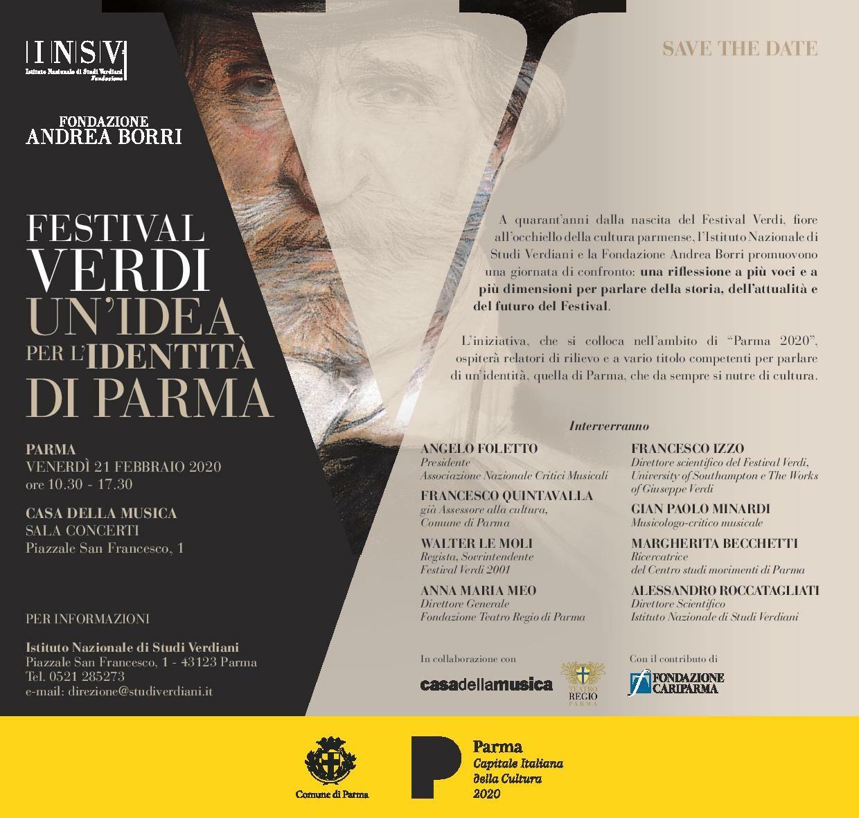 Festival Verdi, un'idea per l'identità di Parma