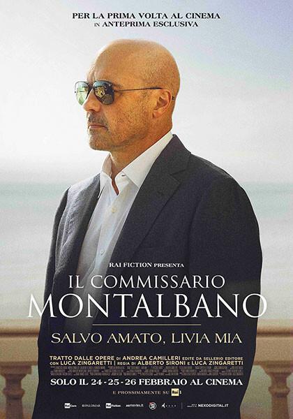 SALVO AMATO, LIVIA MIA,  episodio inedito della nuova serie de IL COMMISSARIO MONTALBANO al cinema Astra