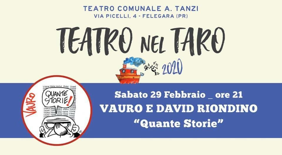 Teatro nel Taro  al teatro Tanzi: Vauro e Davi Riondino
