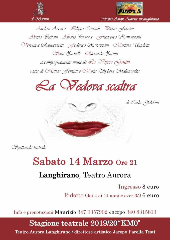 """""""La Vedova scaltra""""di Carlo Goldoni al teatro Aurora di Langhirano"""