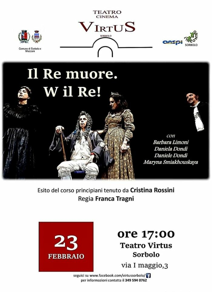 Il re muore. Viva il re al teatro Virtus
