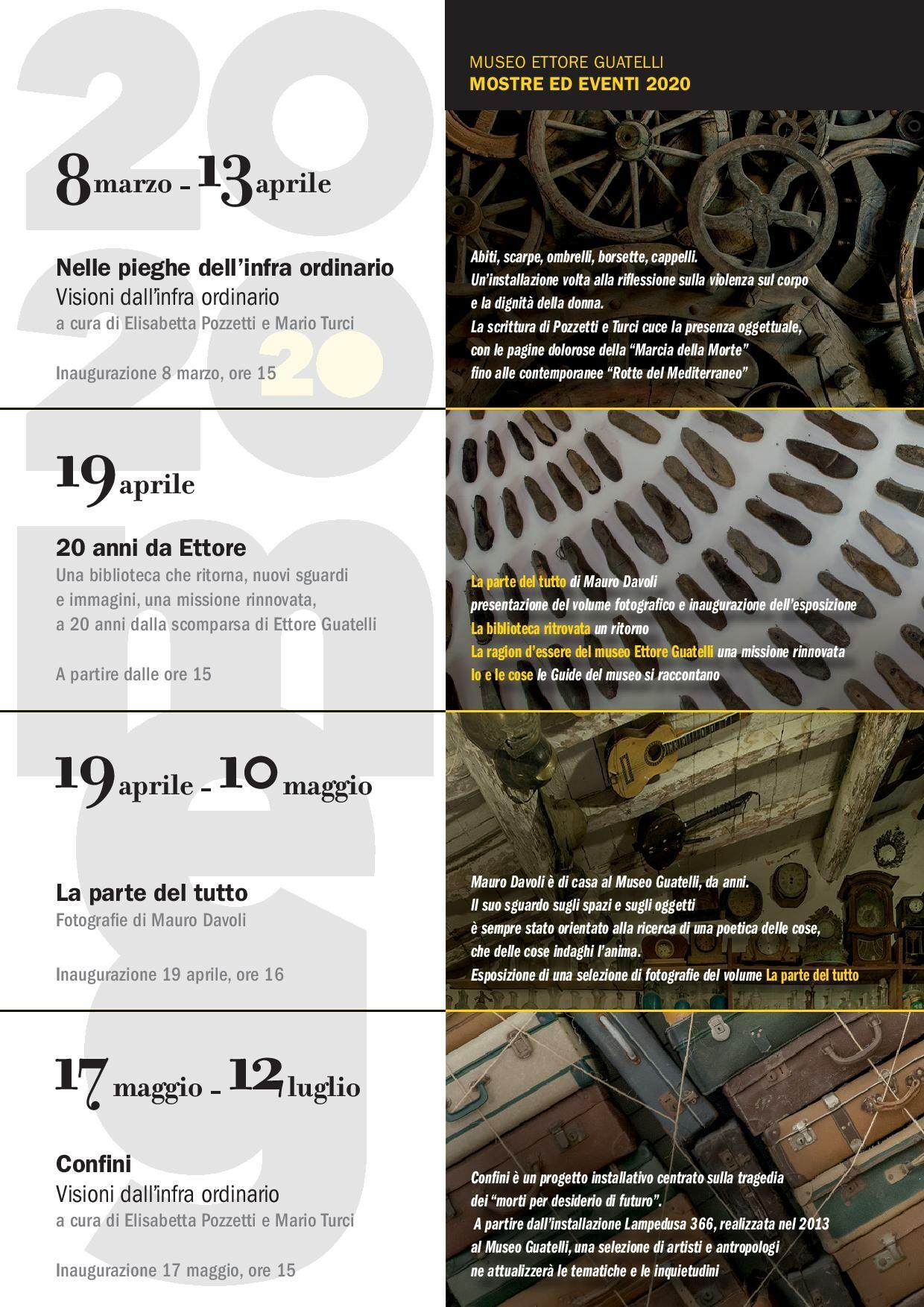 MEG2020 – Un Anno di iniziative al Museo Guatelli: 20 anni da Ettore