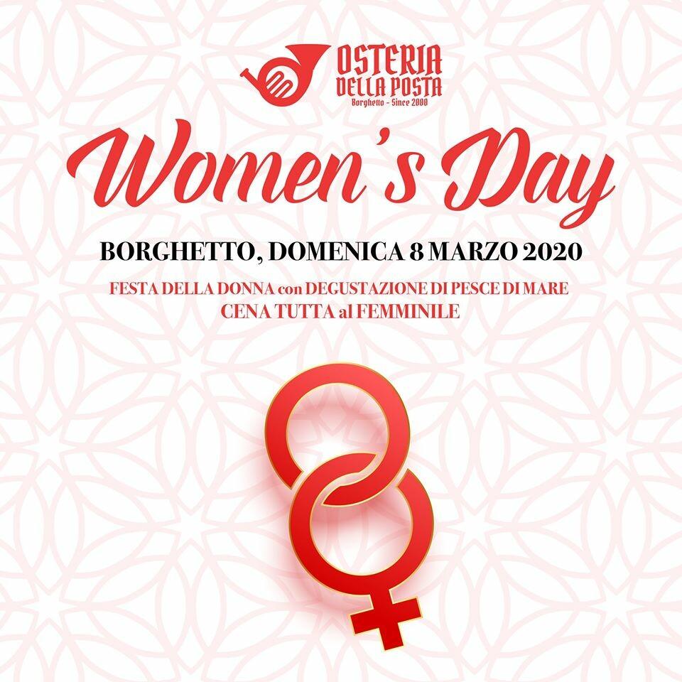 FESTA DELLA DONNA con DEGUSTAZIONE DI PESCE DI MARE CENA TUTTA al FEMMINILE all'Osteria della Posta a Borghetto