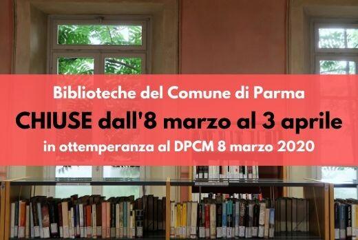 AVVISO: Biblioteche del Comune di Parma chiuse