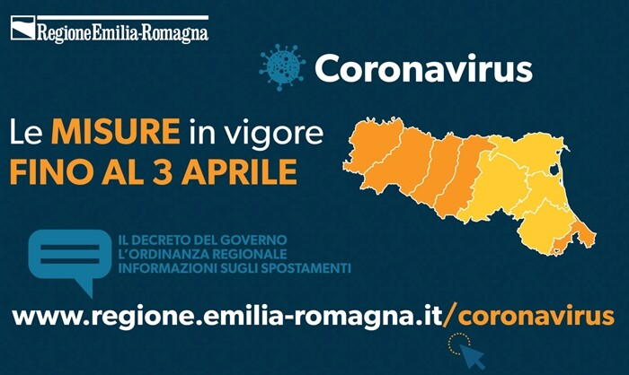 Misure in Emilia-Romagna Coronavirus  Valide in tutto il territorio nazionale fino al 3 aprile
