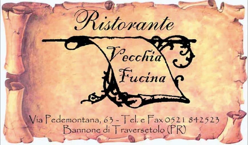 Il  Ristorante Vecchia Fucina consegna a domicilio i suoi piatti a Parma, a Traversetolo e comuni limitrofi