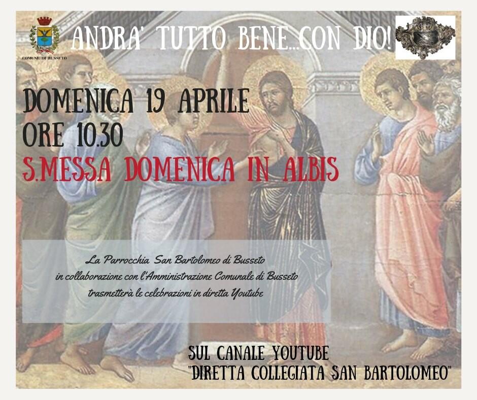 """Santa Messa  in  'DIRETTA COLLEGIATA SAN BARTOLOMEO""""."""