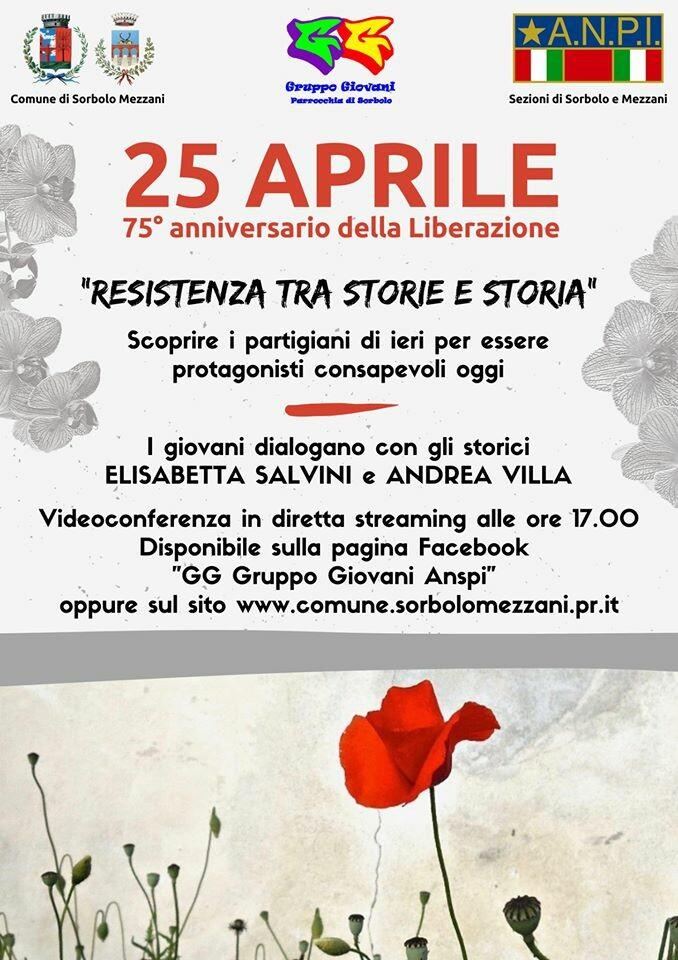 25 aprile: resistenza tra storie e e storia - Videoconferenza in diretta streaming