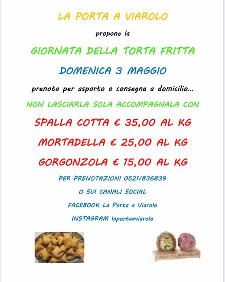 """Giornata della TORTA FRITTA a """"La porta a Viarolo"""""""