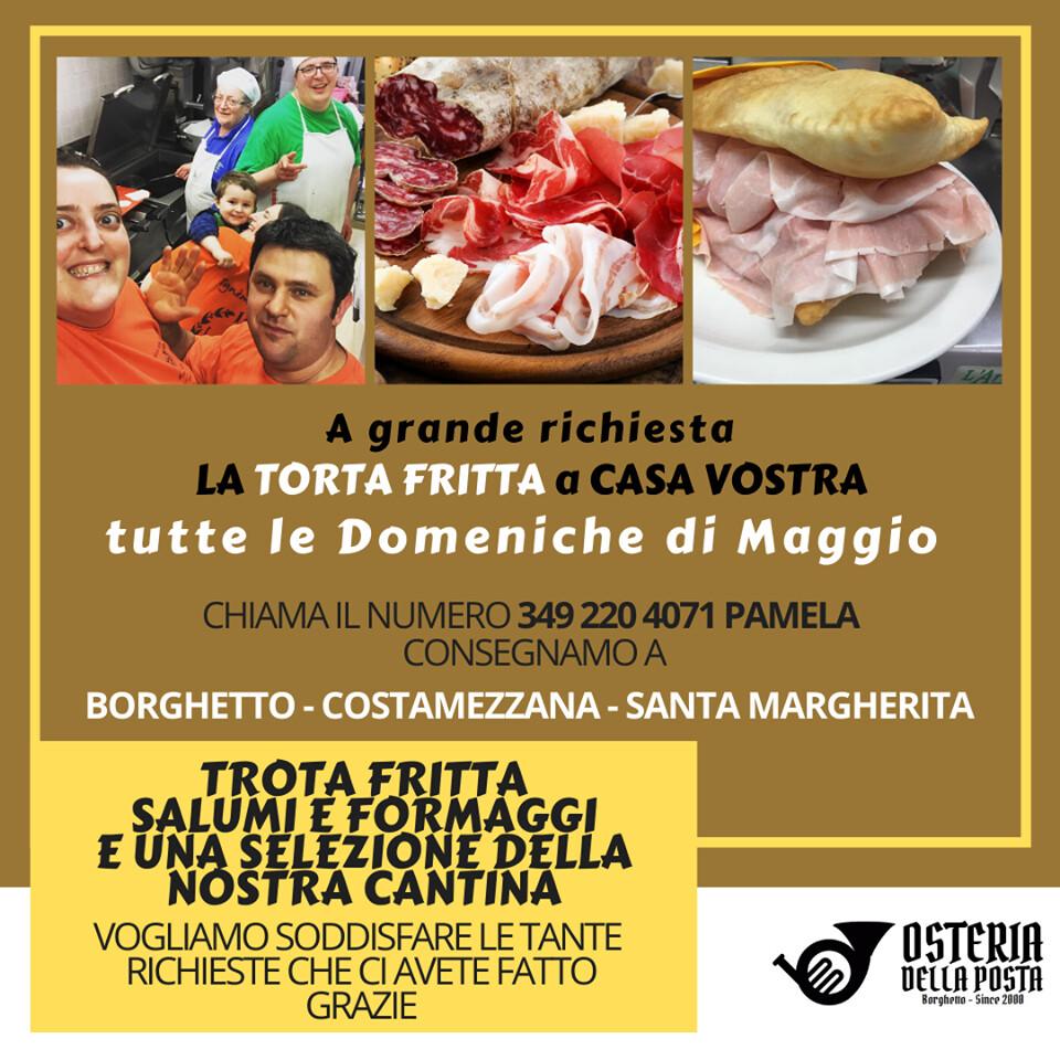 Osteria della Posta a Borghetto: TORTAFRITTA con SALUMI, FORMAGGI & VINO/BIRRA 𝐝𝐢𝐫𝐞𝐭𝐭𝐚𝐦𝐞𝐧𝐭𝐞 𝐚 𝐜𝐚𝐬𝐚 𝐯𝐨𝐬𝐭𝐫𝐚!!!