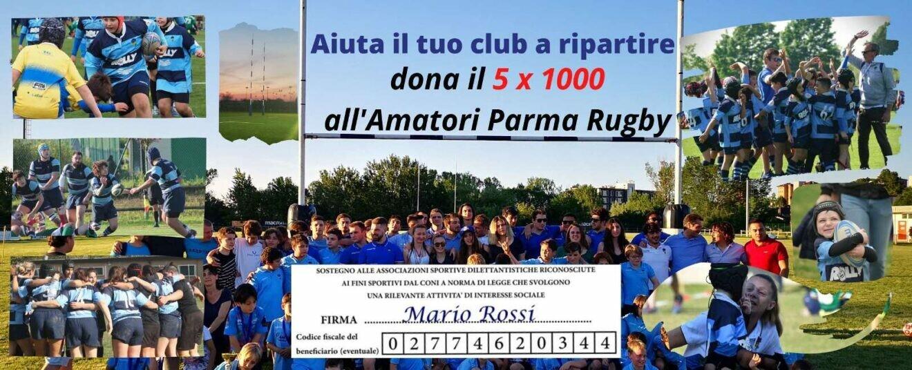 Aiuta l'Amatori Parma a ripartire, dona il 5 x 1000 alla società bluceleste