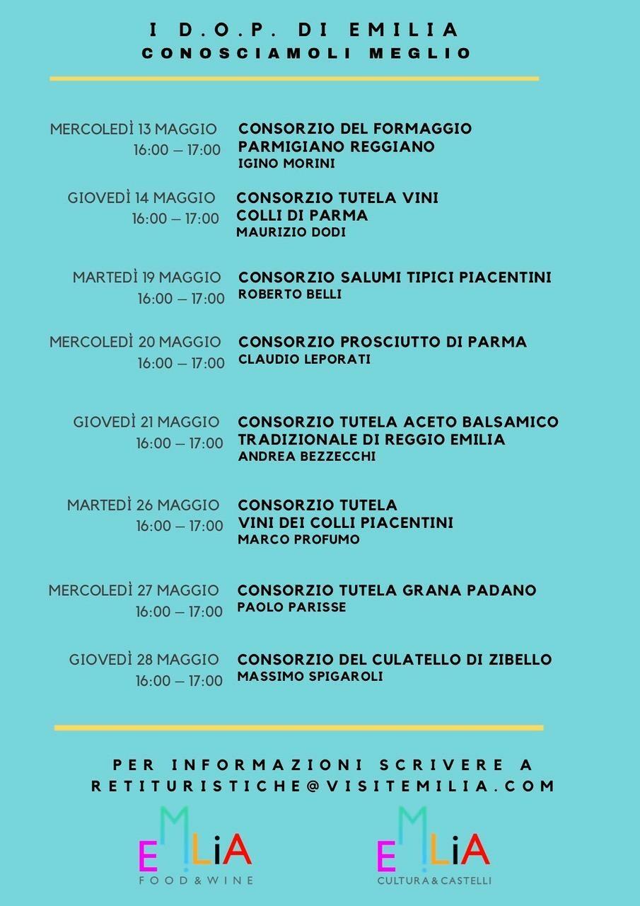 I  prodotti D.O.P. protagonisti di Parma, Piacenza e Reggio.