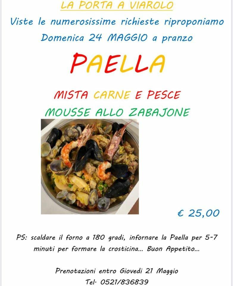 """Paella  de """"La porta a Viarolo"""""""