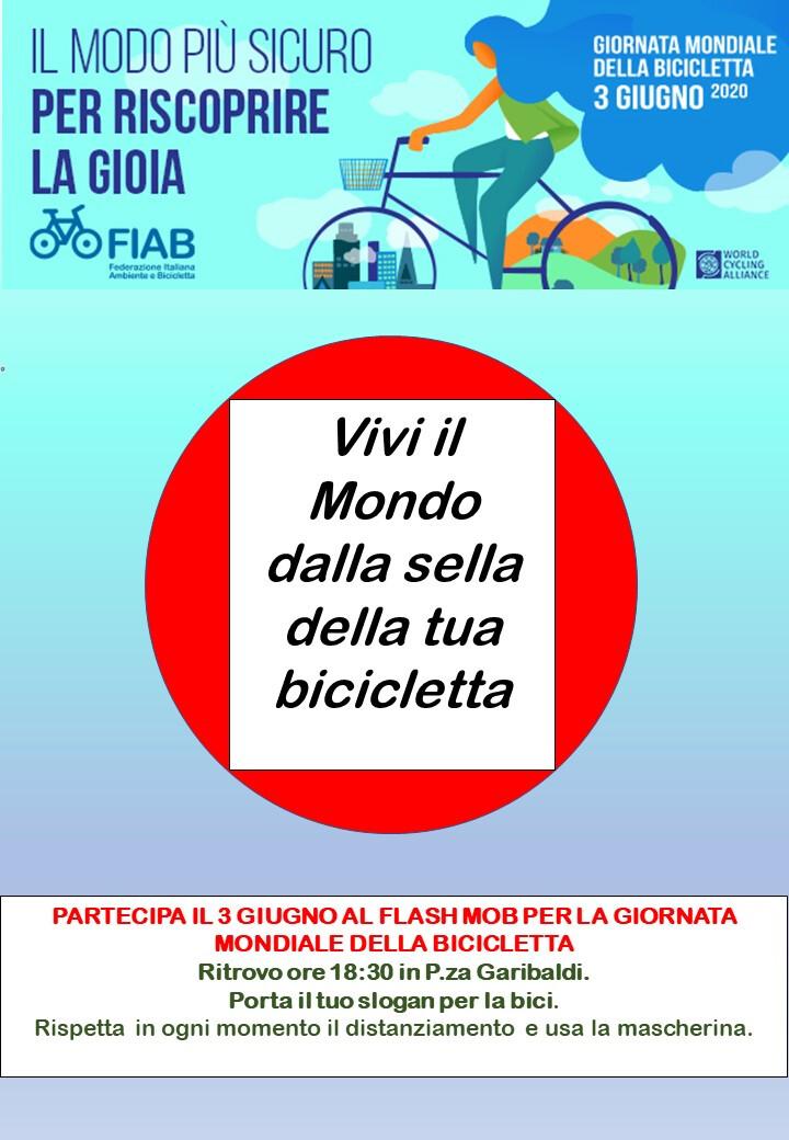 FLASH MOB per la Giornata Mondiale della Bicicletta in P.za Garibaldi ore 18.30