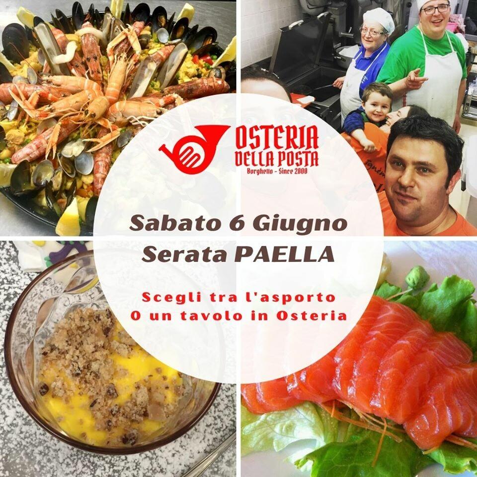 Serata Paella all'Osteria della Posta a Borghetto